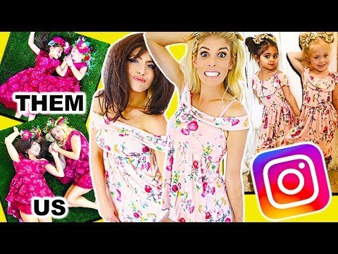 Recreating 4 Year Old's Instagram Photos Wearing Their Clothes! (Hilarious)