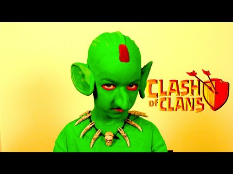 Clash of Clans Goblin Costume Makeup Clash Royale