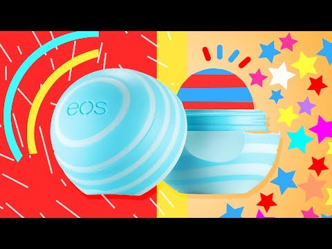 COLORFUL 4th of July INSPIRED DIY EOS Lip balm with Coconut Oil ★ DIY EOS Lip balm Without Beeswax