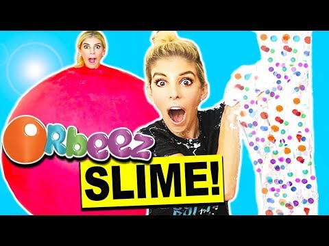 DIY Giant Orbeez Fluffy Slime In An 8ft Balloon, No Borax! (Over 200lbs)