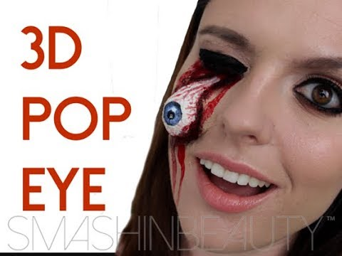 EASY 3D Pop Eye SFX Halloween Makeup Tutorial | SMASHINBEAUTY