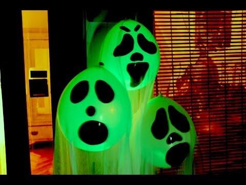 DIY Halloween Ghost Glow Balloons - Yard Decorations! Indoor Halloween Decorations 2019