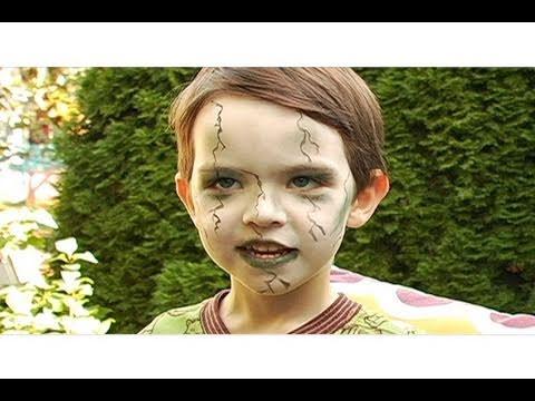 Zombie Makeup for Kids Halloween Tutorial