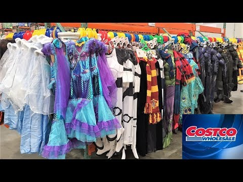 COSTCO HALLOWEEN COSTUMES DECORATIONS - SHOP WITH ME SHOPPING STORE WALK THROUGH 4K