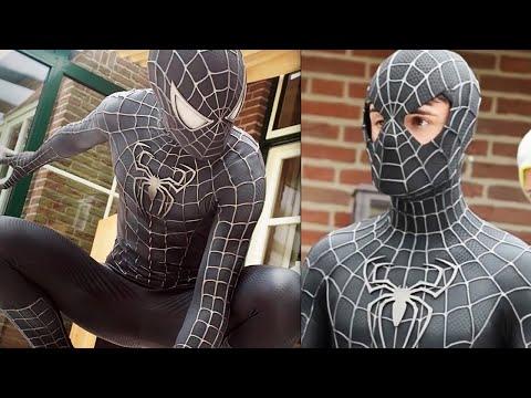 SPIDER-MAN Black Suit Symbiote Movie Costume Replica!