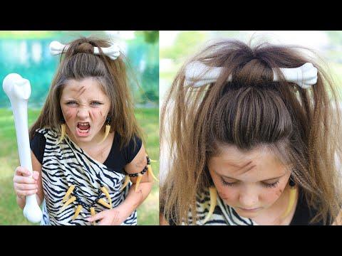 Cave Woman Half-up | Halloween Hairstyles | Cute Girls Hairstyles