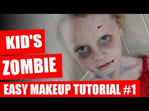 Halloween Makeup Tutorial - Kids Zombie Makeup