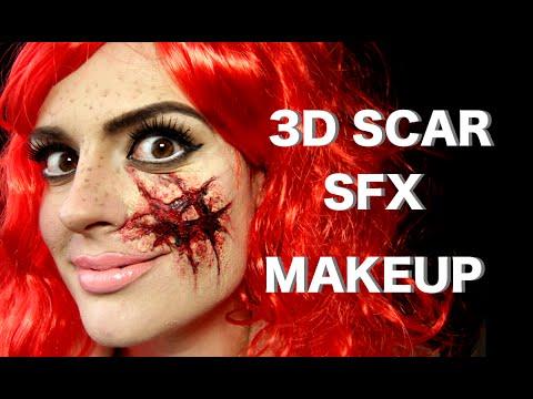 EASY 3D Cut Scar Ripped Face SFX Makeup Tutorial Halloween 2019 SMASHINBEAUTY