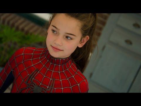 Spider-Girls! - 2 Kids Dress Up in Movie Quality Spider-Man suit