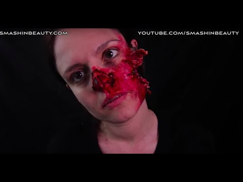 Zombie Face SFX Halloween Makeup Tutorial 2019 SMASHINBEAUTY