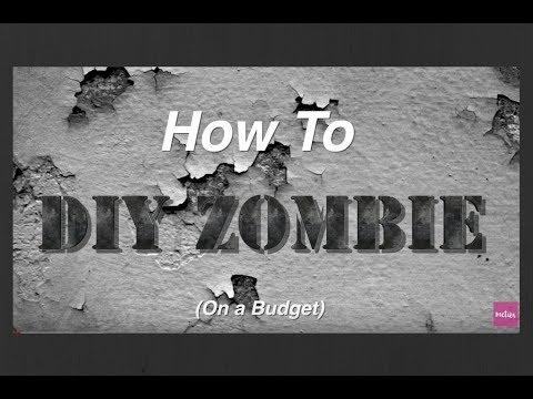 DIY Budget Friendly Halloween Zombie Makeup