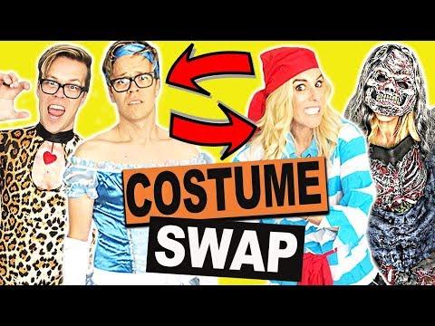 Clothes Swap Challenge! (Halloween Edition) Hilarious Halloween Costumes