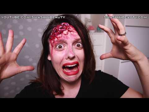 EASY 3D realistic exposed brain SFX Halloween makeup tutorial 2019 SMASHINBEAUTY