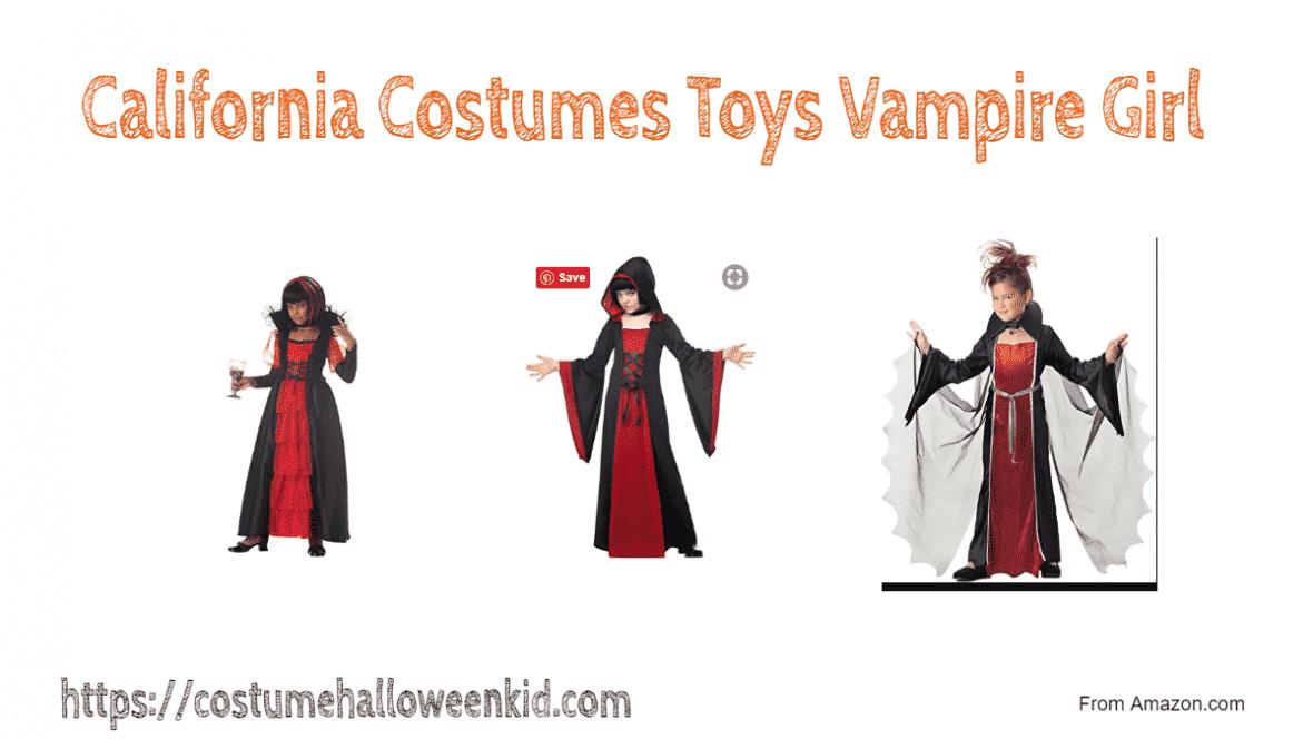California Costumes Toys Vampire Girl