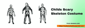 Childs Scary Skeleton Costume