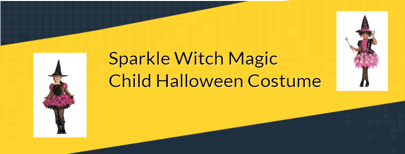 Sparkle Witch Magic Child Halloween Costume