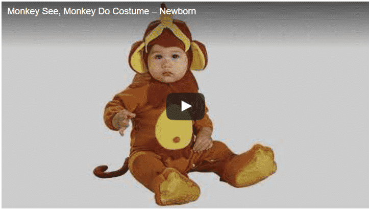 Monkey See, Monkey Do Costume - Newborn