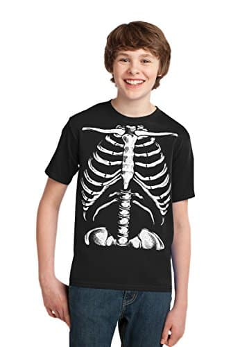 skeleton rib cage shirt