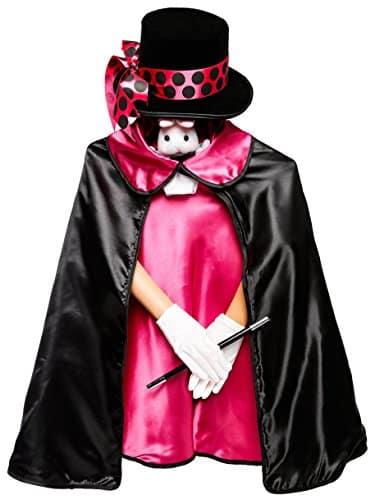 Kids Pink 6pc Magician Costume Set w/Storage Bag